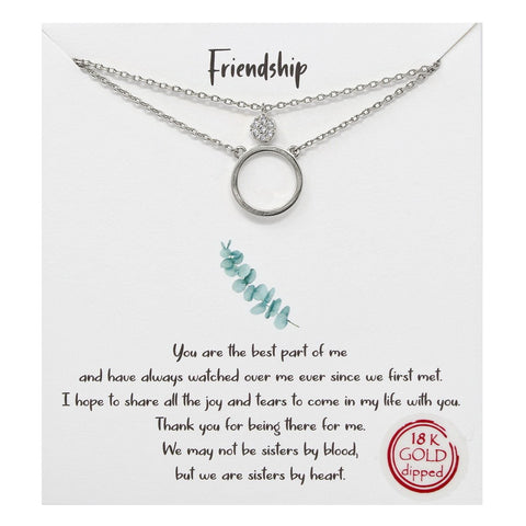 BITZ STORY: FRIENDSHIP LAYERED SIMPLE CHAIN NECKLACE