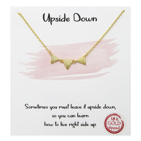 BITZ STORY: UPSIDE DOWN SIMPLE CHAIN NECKLACE