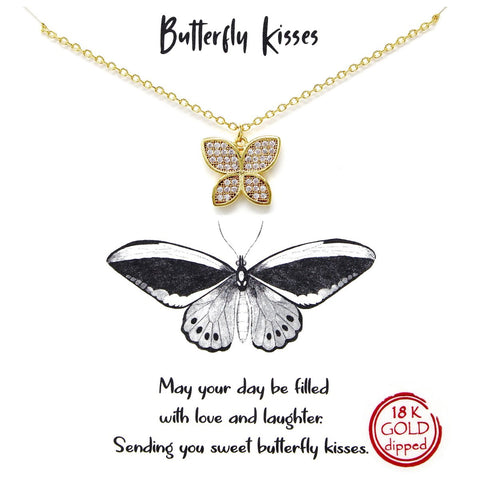 BITZ STORY: BUTTERFLY KISSES SIMPLE CHAIN NECKLACE