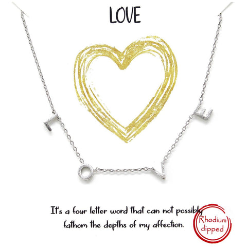 BITZ STORY: LOVE SPACED LETTER CHARM SHORT CHAIN NECKLACE