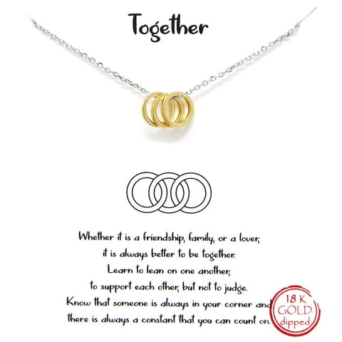 BITZ STORY: TOGETHER SIMPLE CHAIN NECKLACE