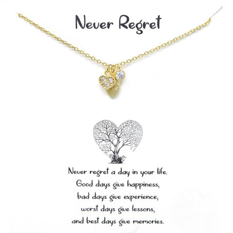 BITZ STORY: NEVER REGRET SHORT CHAIN NECKLACE