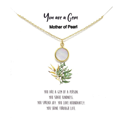 BITZ STORY: YOU ARE A GEM PENDANT SIMPLE CHAIN NECKLACE