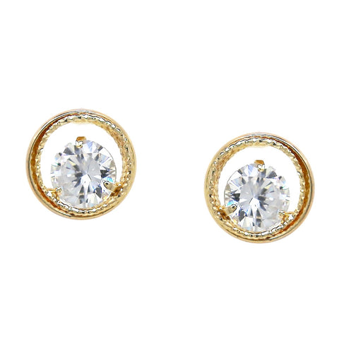 BITZ CUBIC ZIRCONIA OVERSIZED STUD EARRINGS