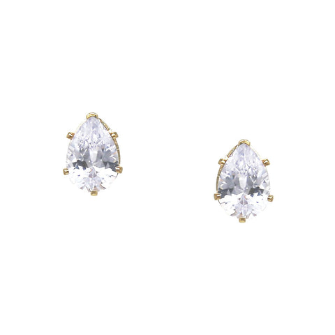 BITZ TEARDROP CUBIC ZIRCONIA STUD EARRINGS