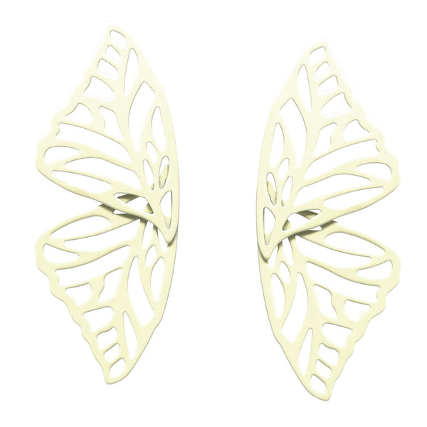 BITZ COLOR COATED METAL CUTOUT BUTTERFLY STUD EARRINGS - 3 COLOR OPTIONS
