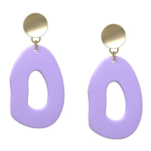 BITZ MATTE ACETATE GEOMETRIC DROP EARRINGS