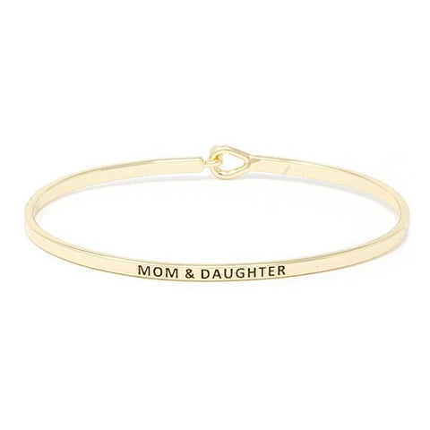 BITZ MOM + DAUGHTER MESSAGE BRACELET GOLD