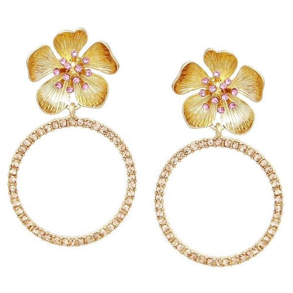 BITZ SPRING DROP FLOWER EARRING - FOUR COLOR OPTIONS
