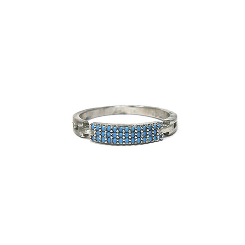BITZ TURQUOISE CUBIC ZIRCONIA PAVE RING SIZES 6,7,8