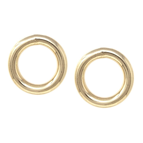 BITZ METAL HOOP STUD EARRINGS