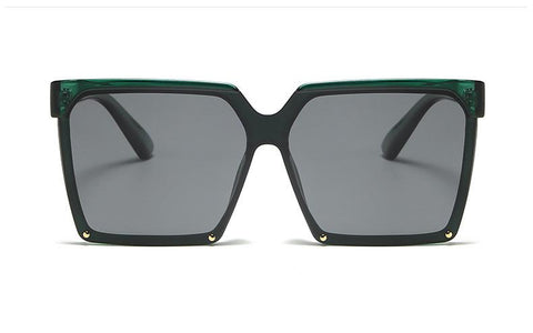 BITZ FALL SQUARE SUNNIES CLEAR GREEN/ BLACK GRAY