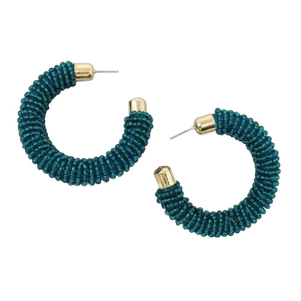 BITZ CANDY POP BEADED HOOP EARRING - 3 COLOR OPTIONS
