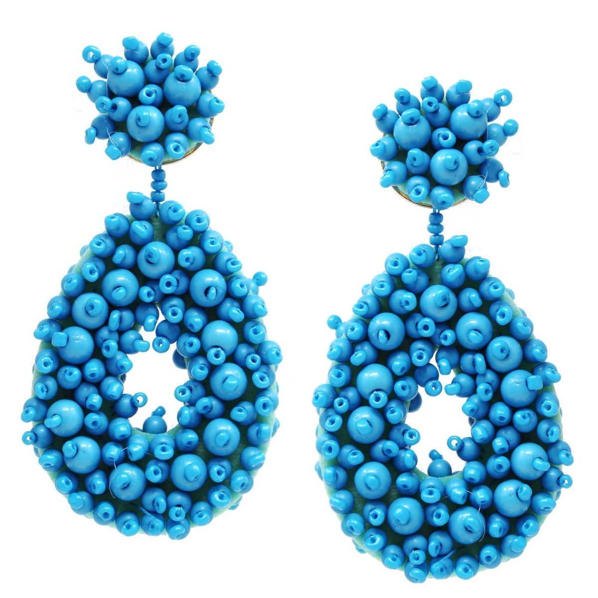 BITZ CHUNKY BEADED TEARDROP EARRINGS