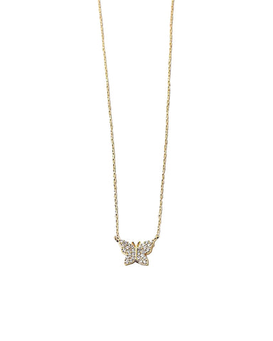 BITZ NEW! CZ BUTTERFLY NECKLACE