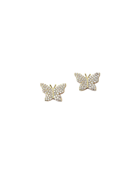 BITZ NEW! CZ BUTTERFLY STUD EARRING