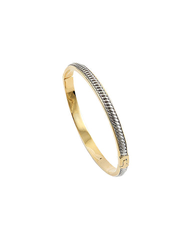 BITZ TWO TONE CZ BANGLE BRACELET
