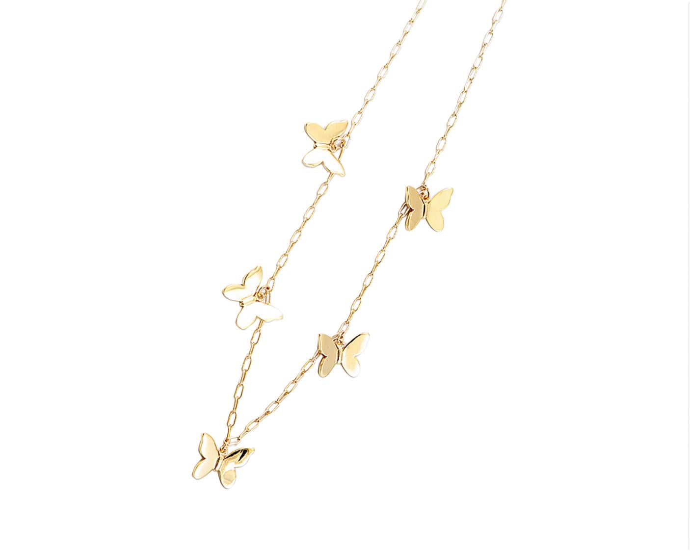 BITZ BUTTERFLY NECKLACE 2.0 - FLOATING CHARMS