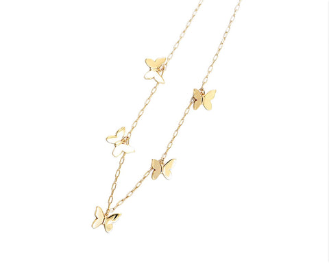 BITZ BUTTERFLY NECKLACE 2.0 - FLOATING CHARMS - TWO COLORS