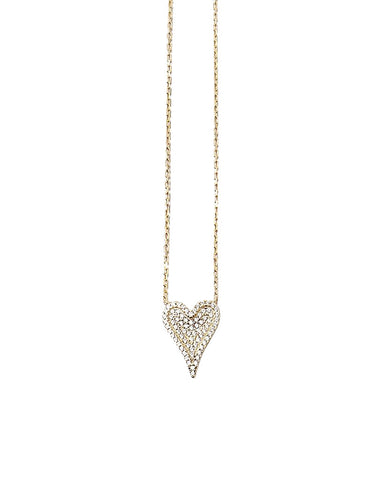 BITZ LOVE HEART NECKLACE CZ - GOLD OR SILVER - LIMITED EDITION