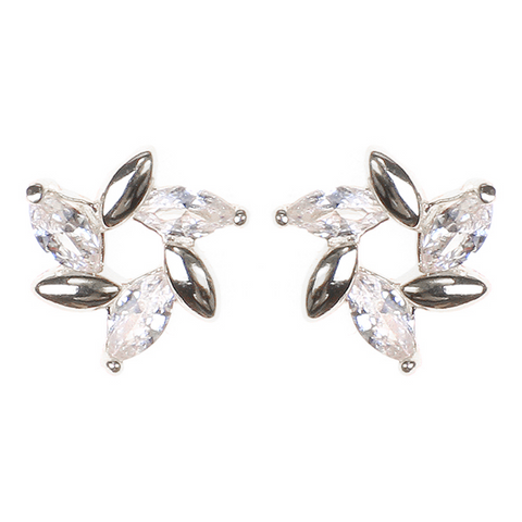 BITZ Glass Stone Statement Studs Earrings