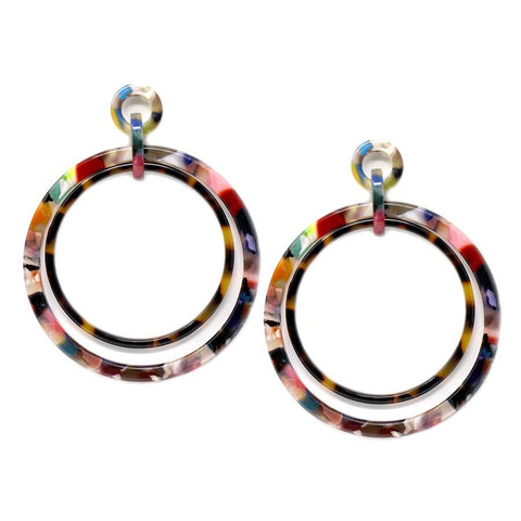 BITZ MARBLE DROP FALL EARRING