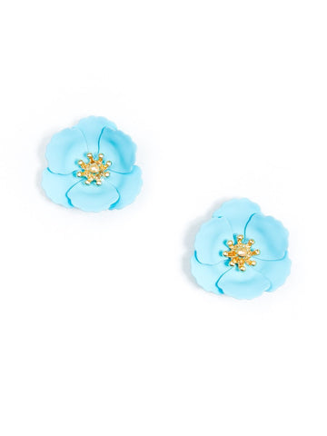 MINI POPPY FLOWER STUD EARRING