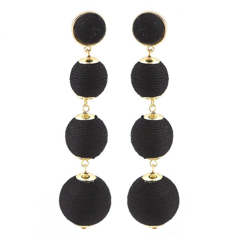 BON DROP EARRING - 4 DROP BLACK
