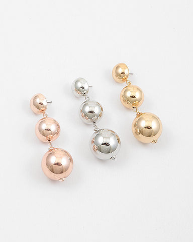 BON DROP EARRING  - METALS