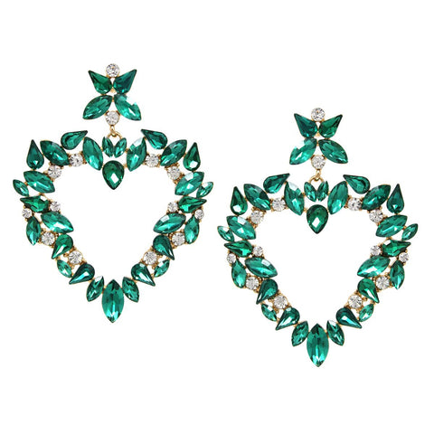 BITZ HEART STATEMENT OVERSIZED EARRING