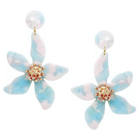 BITZ FLOWER DROP EARRING