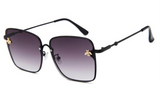 BITZ BEE RECTANGULAR SUNNIES SUNGLASSES - GRADIENT GUNMETAL IN STOCK!