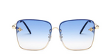 BITZ BEE RECTANGULAR SUNNIES SUNGLASSES- OMBRE' BLUE