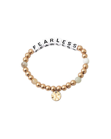BITZ FEARLESS MESSAGE BRACELET