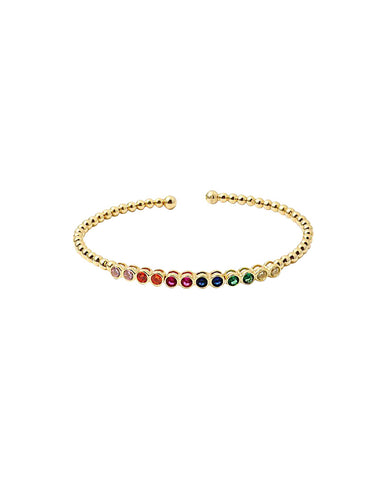 BITZ RAINBOW BANGLE 2.0 - STERLING SILVER TWO COLOR OPTIONS