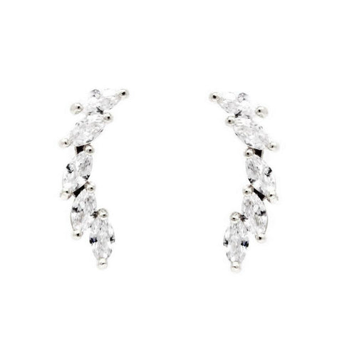 BITZ LUXE Marquise Stone Paved Ear Crawlers EARRING
