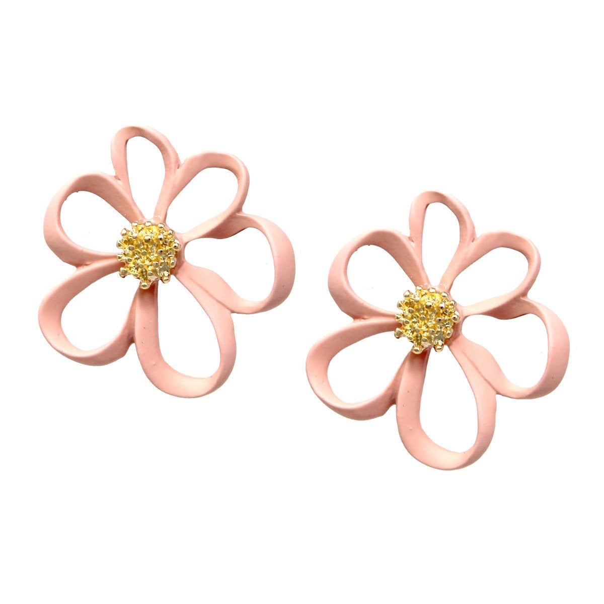 BITZ  Color Flower Stud Earrings 2 COLORS