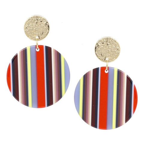 BITZ ROUND EARRING - FALL MULTI
