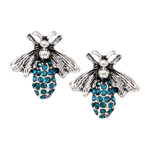 BITZ BEE STUD EARRING -  BLUE