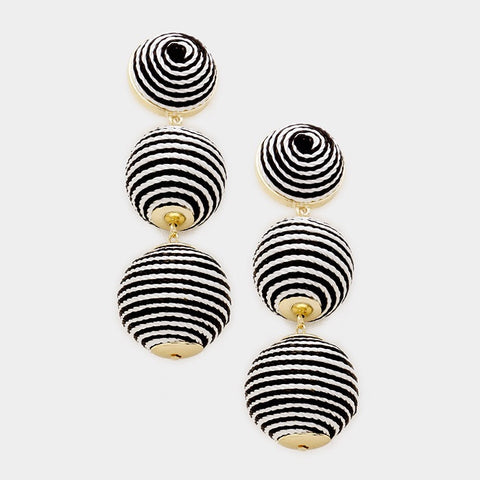 BON DROP EARRINGS - STRIPE