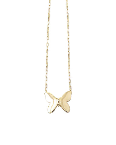 BITZ BUTTERFLY PENDANT NECKLACE - GOLD OR SILVER - LOVE THIS SHORTER LENGTH!