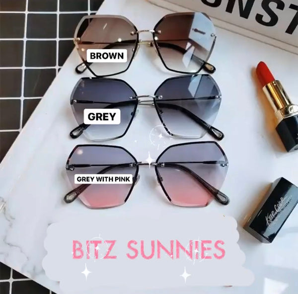 BITZ RIMLESS HEX SUNNIES- TWO COLORS
