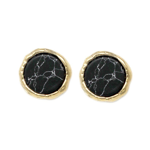BITZ Natural Gem Stone Mini Stud Earrings