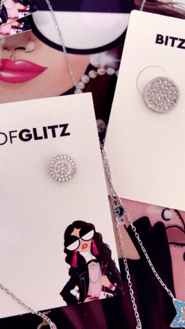 BITZ DELICATE CZ STUD EARRING - SMALL STUDS