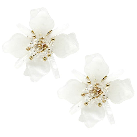 BITZ OVERSIZED FLOWER STUD EARRING