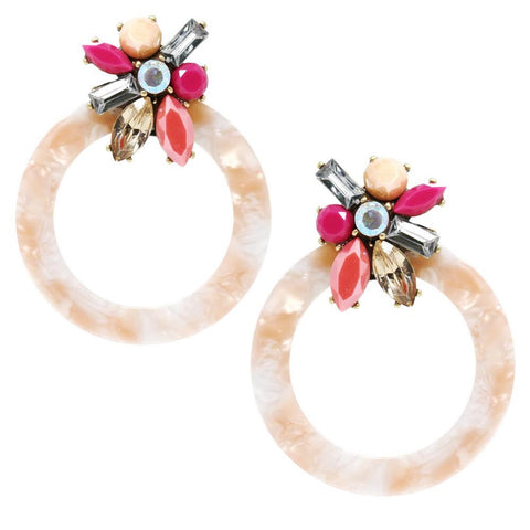 BITZ STATEMENT ROUND EARRING