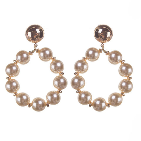 BITZ PEARL STATEMENT EARRING 2.0 -GOLD