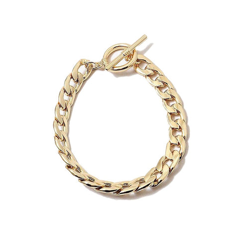 BITZ CUBAN LINK CHAIN TOGGLE BRACELET - GOLD OR SILVER
