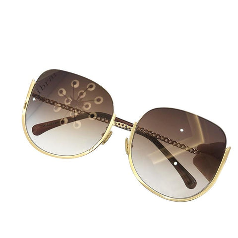 BITZ LUXE N CHAIN OVERSIZED SUNNIES  SUNGLASSES IN STOCK!