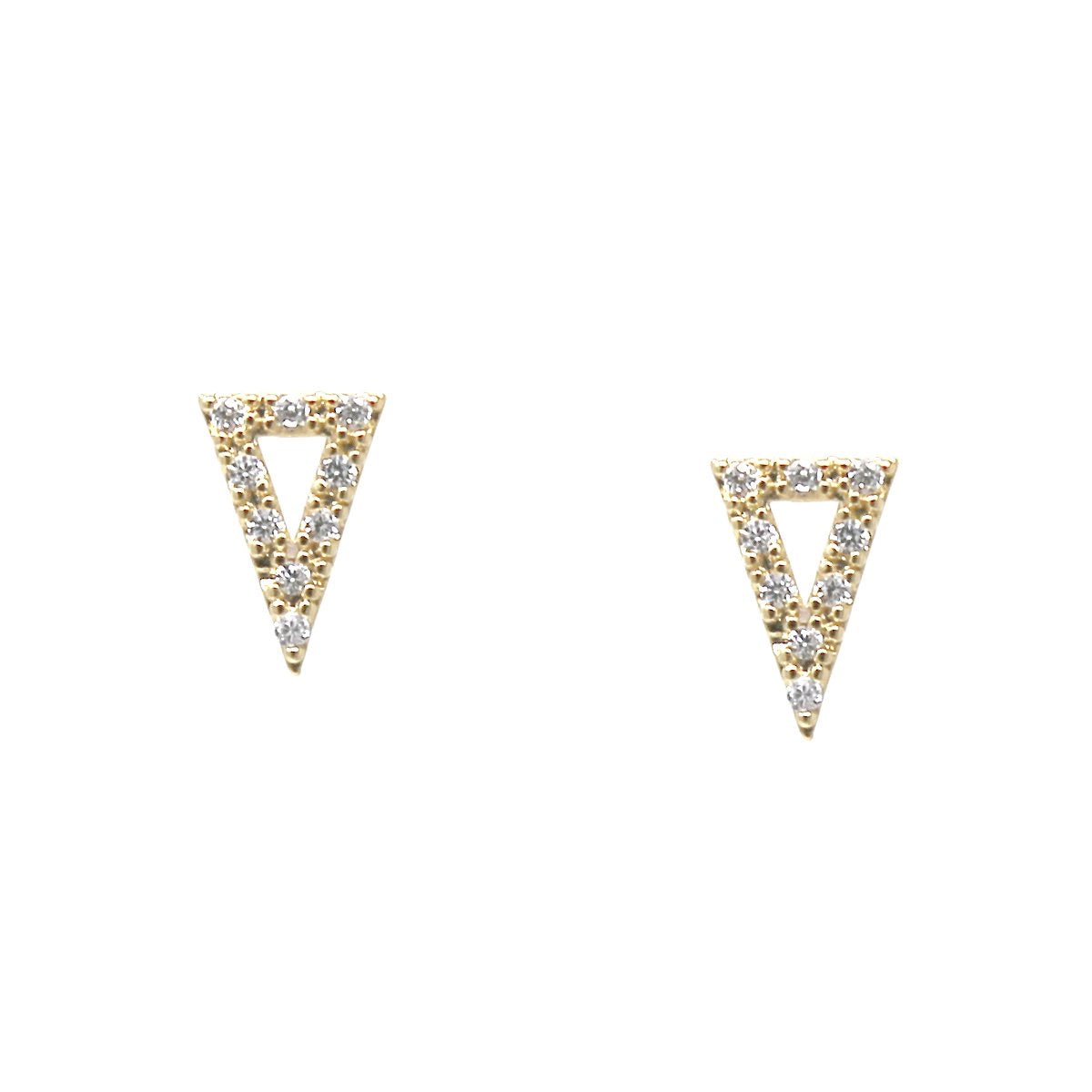 BITZ CZ Pave Triangle Stud Earrings